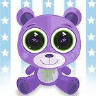 Teddy Bear - Star Eye Purple by Adamzworld