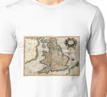 Vintage Map of England (1596) Unisex T-Shirt