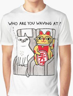 The Waving Cat Graphic T-Shirt