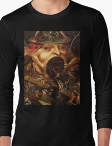 Insight into Hell 3 by Hieronymus Bosch Long Sleeve T-Shirt