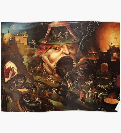 Insight into Hell 3 by Hieronymus Bosch Poster