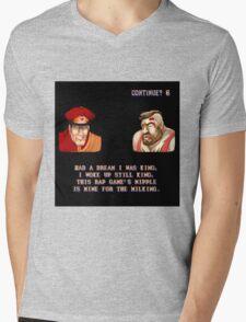 Street Fighter II x Hip Hop Mens V-Neck T-Shirt