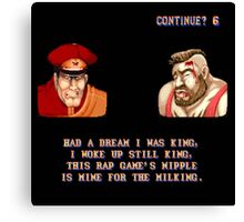 Street Fighter II x Hip Hop Canvas Print