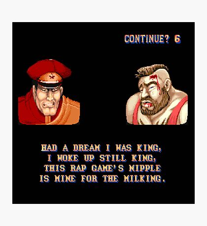 Street Fighter II x Hip Hop Photographic Print