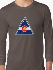COLORADO ROCKIES HOCKEY RETRO Long Sleeve T-Shirt