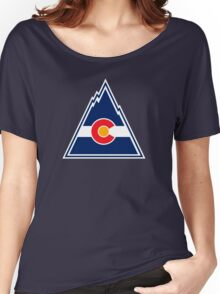 COLORADO ROCKIES HOCKEY RETRO Women's Relaxed Fit T-Shirt