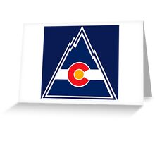 COLORADO ROCKIES HOCKEY RETRO Greeting Card