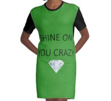 Pink Floyd - Shine On You Crazy Diamond Graphic T-Shirt Dress