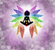 Meditating Chakra Fairy by MinxMacabre