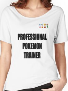 PokeTrainer with Badges Women's Relaxed Fit T-Shirt