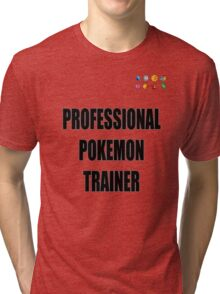 PokeTrainer with Badges Tri-blend T-Shirt