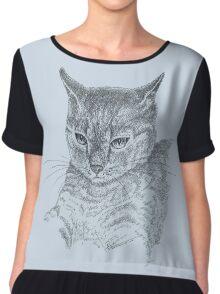 Wistful cat Chiffon Top