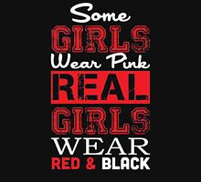 Some girls wear pink real girls wear red & black - T-shirts & Hoodies Womens Fitted T-Shirt