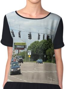 Suspended traffic lights Chiffon Top