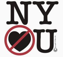 New York Hates You (Classic Stacked Logo) by barrileart