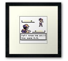 Pokemon x Hip Hop Framed Print