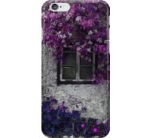 Purple and Radiant Orchid Vines on Old Stone Building  iPhone Case/Skin