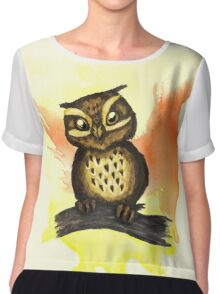 Cute owl. Chiffon Top