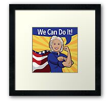 Hillary Clinton as Rosie the Riveter.  Framed Print
