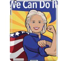 Hillary Clinton as Rosie the Riveter.  iPad Case/Skin