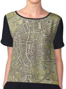 Vintage Map of Brussels Belgium (1698) Chiffon Top