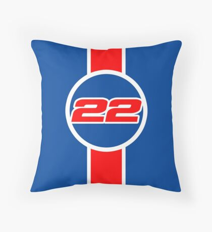 Button 22 Throw Pillow