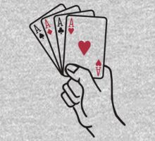 Poker cards aces hand One Piece - Long Sleeve