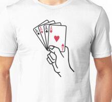 Poker cards aces hand Unisex T-Shirt