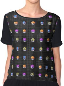 POCKET MONSTERS BALL COLLECTION Chiffon Top