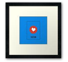 I Love Tucson Framed Print