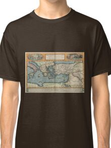 Vintage Map of The Mediterranean (1584) Classic T-Shirt