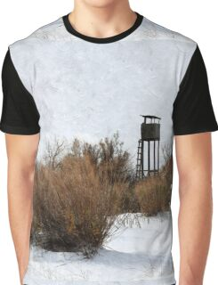 Vintage Hunting House in Winter Graphic T-Shirt