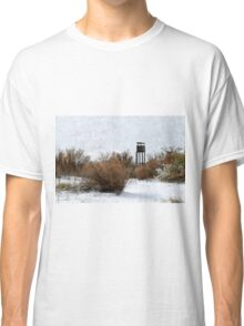 Vintage Hunting House in Winter Classic T-Shirt