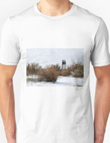 Vintage Hunting House in Winter Unisex T-Shirt