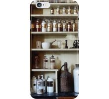 Mortar and Pestle and Bottles on Shelves iPhone Case/Skin