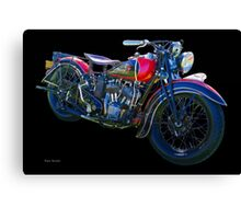 1938 Indian Sport Scout M.C. Canvas Print
