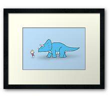 Hello Triceratops Framed Print