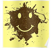 Vintage Mud Smiley Poster