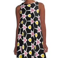Abstract bacon and eggs A-Line Dress