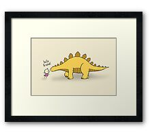 Hello Friend (Dinosaur) - two lof bees Framed Print