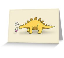Hello Friend (Dinosaur) - two lof bees Greeting Card