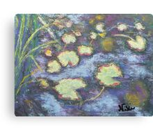 Water Lilies (pastel) Canvas Print