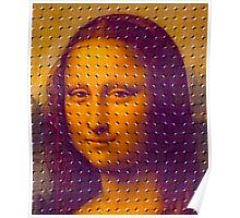 """WHIMSICAL MONA LISA"" ABSTRACT PRINT Poster"
