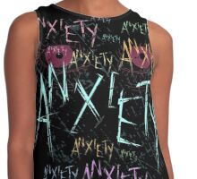 anxiety anxiety ANXIETY Contrast Tank