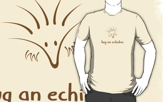 Hug An Echidna - two lof bees by Josh Bush