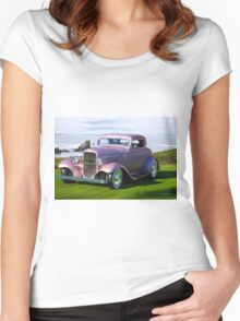 1932 Ford 'Lilac' Coupe Women's Fitted Scoop T-Shirt