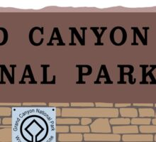 Grand Canyon National Park Sign, Arizona Sticker