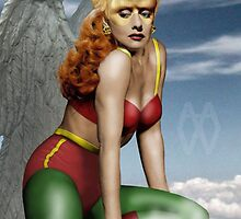 Lucille Ball as Golden Age Hawkgirl by TheWrightMan