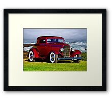 1932 Ford 'Old School Hot Rod' Coupe Framed Print