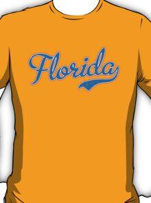 Florida Script Blue VINTAGE T-Shirt